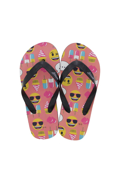 Emoji Kids Ice Cream Flip Flops