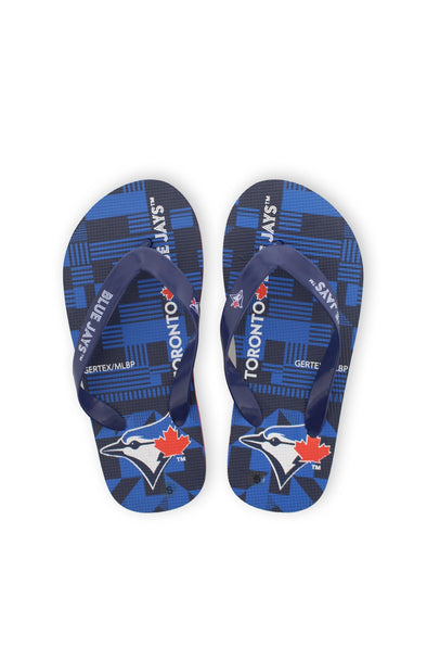 MLB Blue Jays Kids Flip Flops