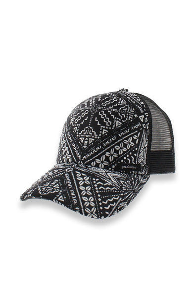 Mesh Black & White Baseball Cap