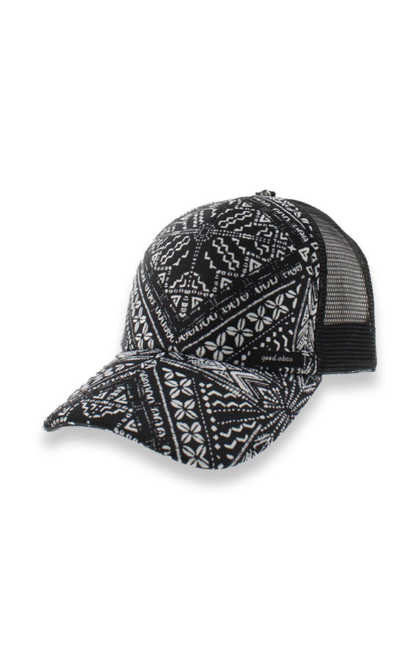 Mesh Black & White Baseball Cap - BUWU