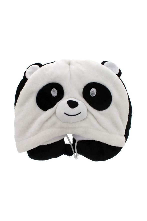 Fleece Hooded Panda Travel Pillow