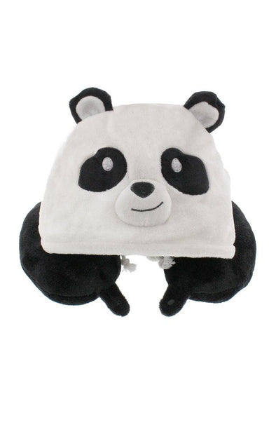 Fleece Hooded Panda Travel Pillow - BUWU