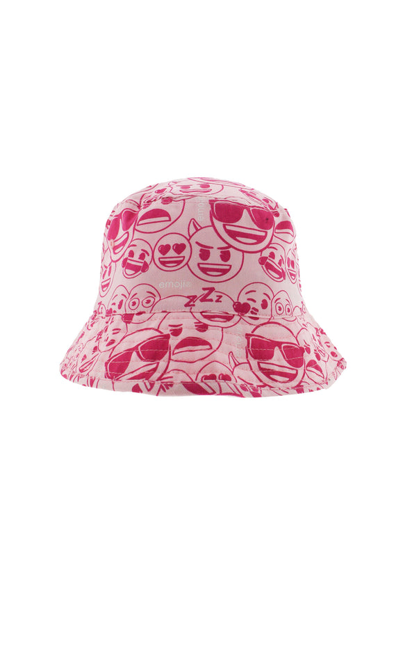 Emoji Kids Pink Bucket Hat - BUWU