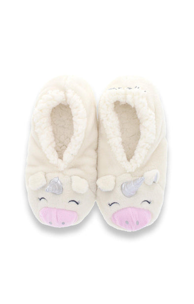 Unicorn 3-D Plush Slippers