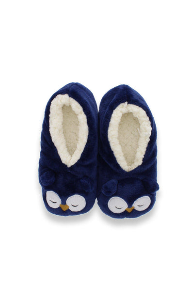 Owl 3-D Plush Slippers