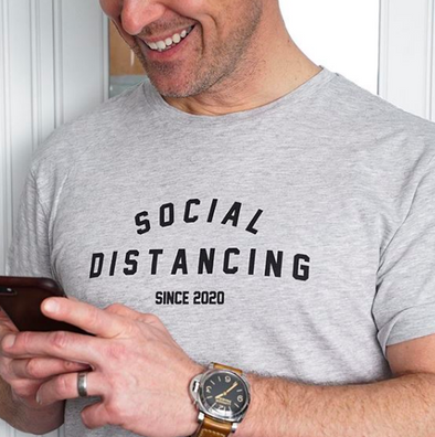 Social Distancing Since 2020 T-Shirt - BUWU