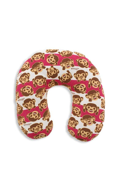 Emoji Monkey Travel Pillow