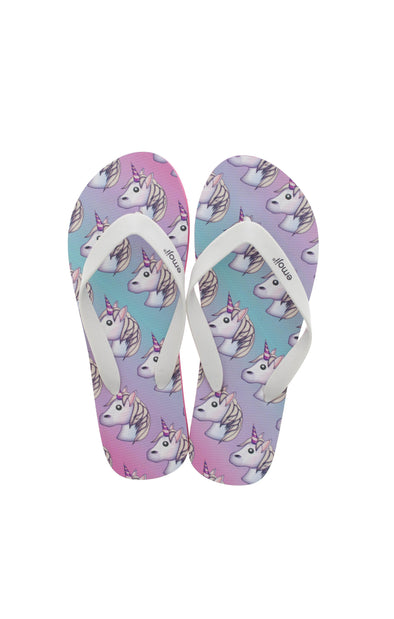 Emoji Ladies Unicron Flip Flops
