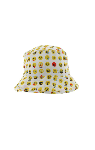 Emoji Kids White Bucket Hat - BUWU
