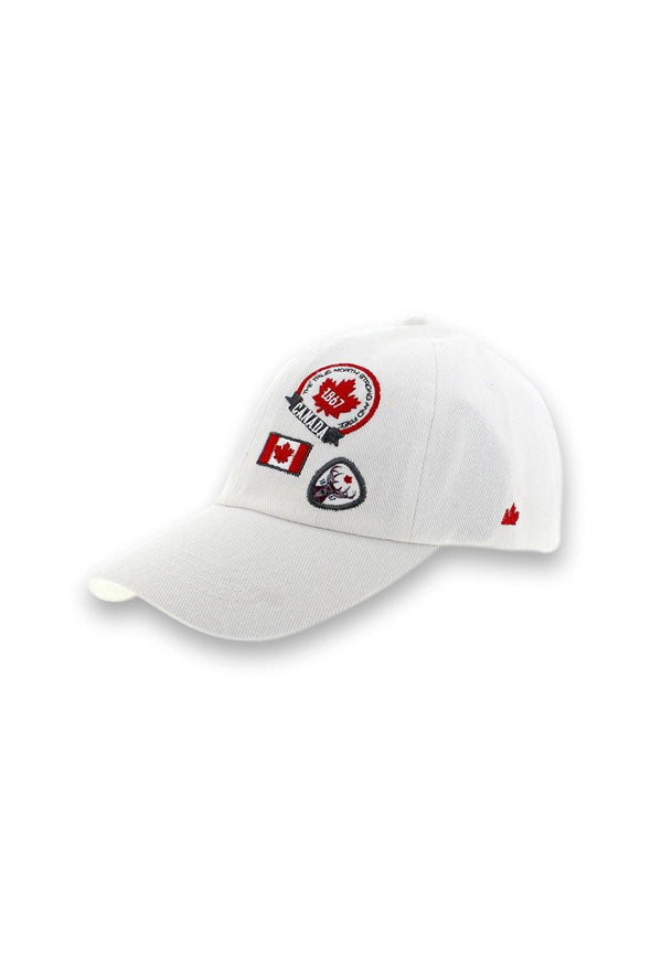 Canada Ladies White Denim Baseball Cap