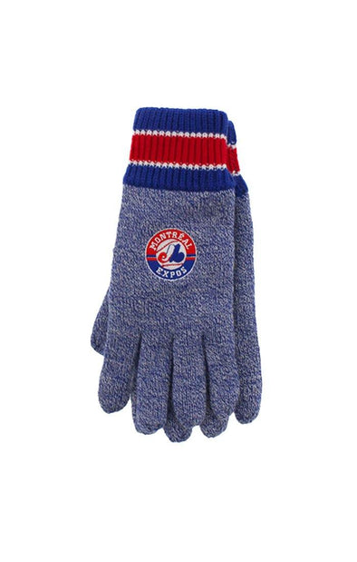 MLB Expos Mens Thermal Knitted Gloves - BUWU