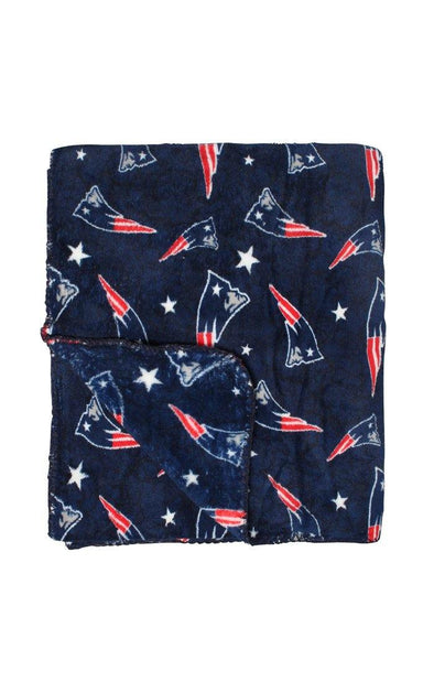 NFL Patriots Travel Fleece Throw - BUWU