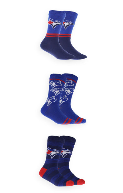 MLB Blue Jays Kids 3-Pack Crew Socks