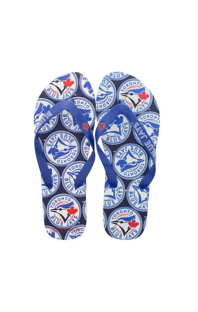 MLB Blue Jays Men's Logo Flip Flops