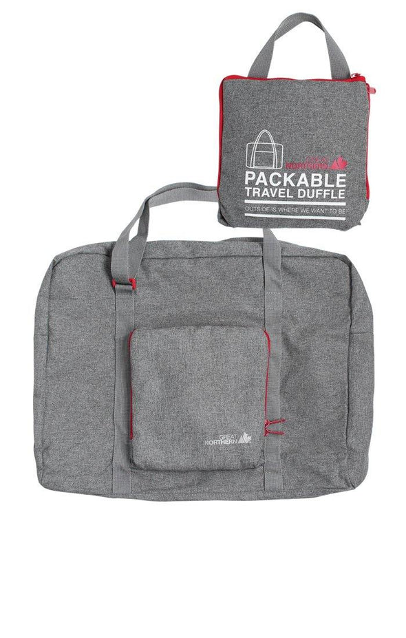 Packable Duffle Bag Light Grey