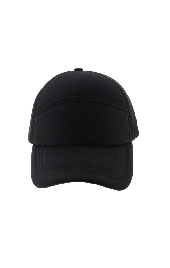 Paneled Black Cap - BUWU