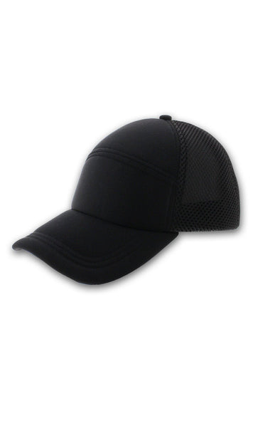 Paneled Black Cap