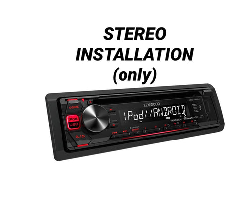 Basic Radio Installation (In-Store Only)