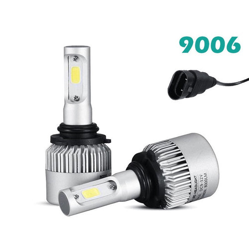 2PCS Car LED 9006 HB4 9005 HB3 S2 72W LED Headlight Conversion Kit 6500K White 8000LM
