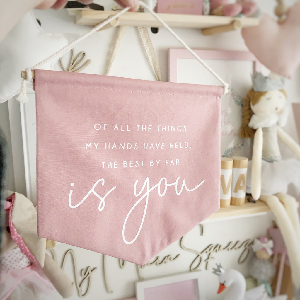 My Hands Fabric Banner - Ava & Harper co