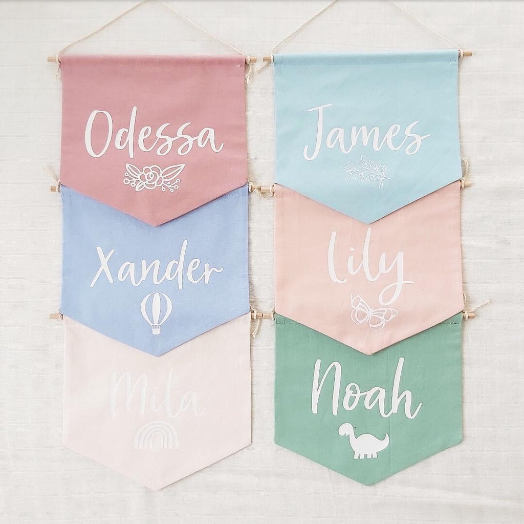 Personalised Fabric Banner - Ava & Harper co
