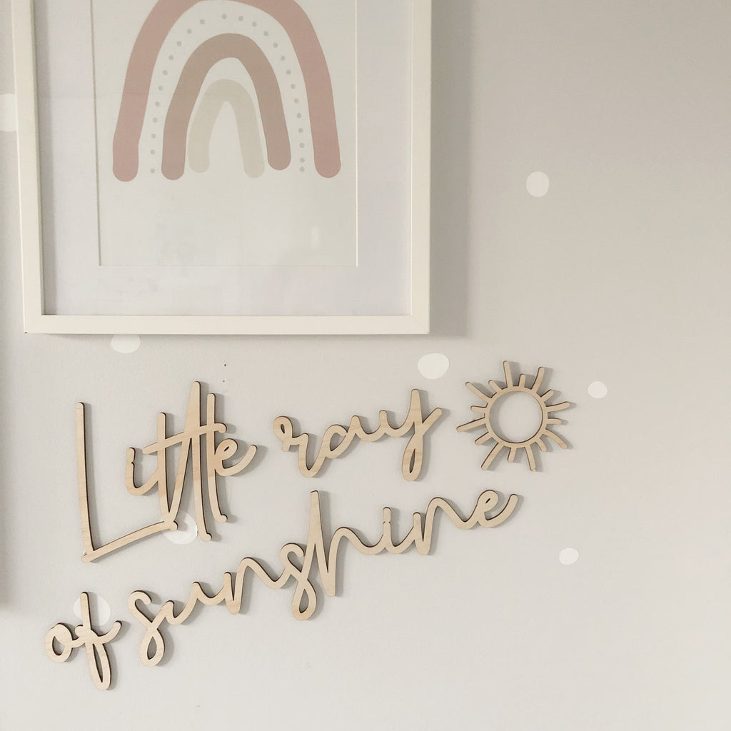 Little Ray of Sunshine Wall Mate - Ava & Harper co