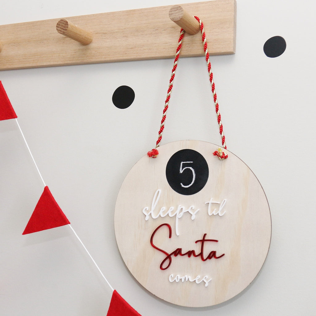 Sleeps til Santa Comes Wall Hanging - Ava & Harper co