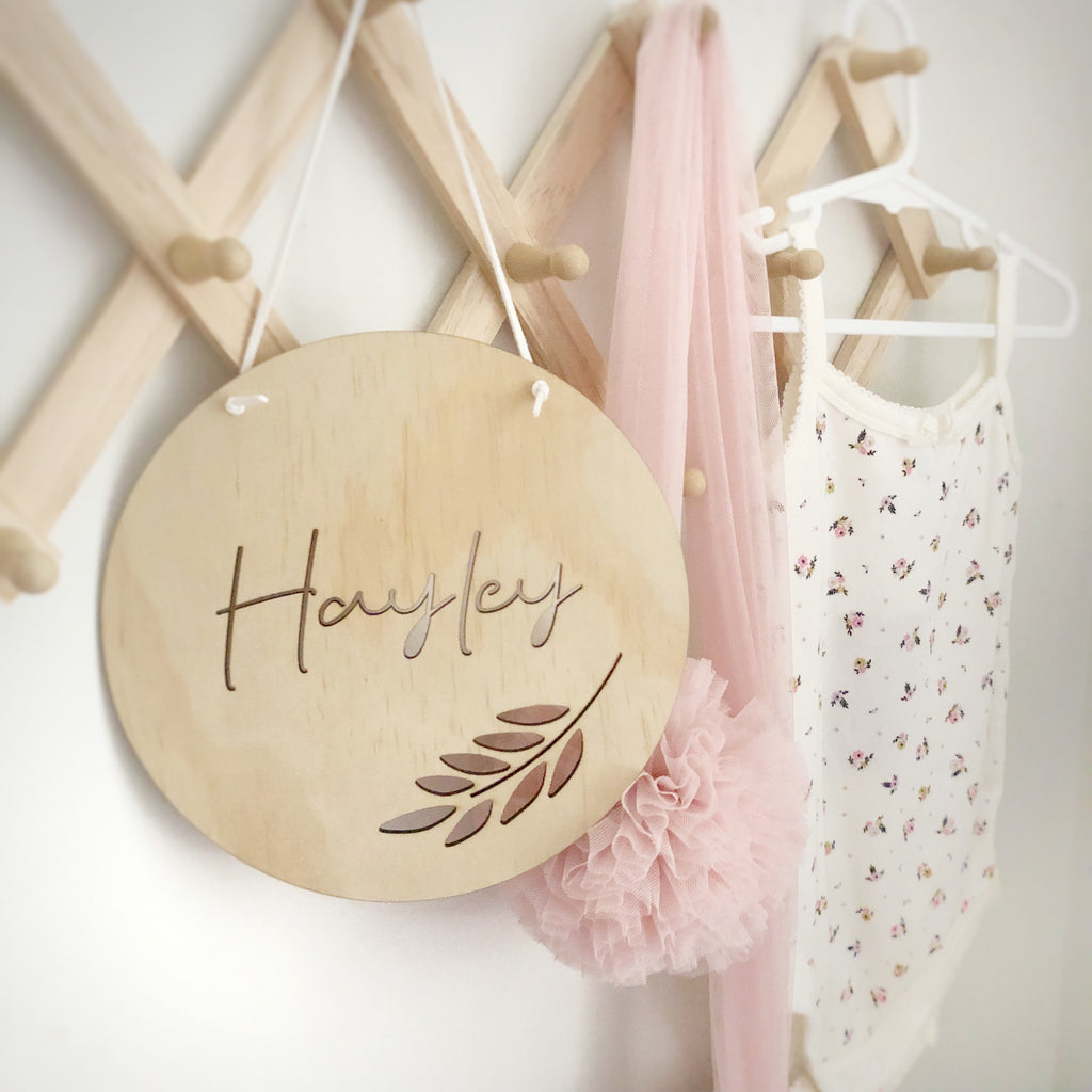 Cut Out VINE Personalised Wall Mate - Ava & Harper co