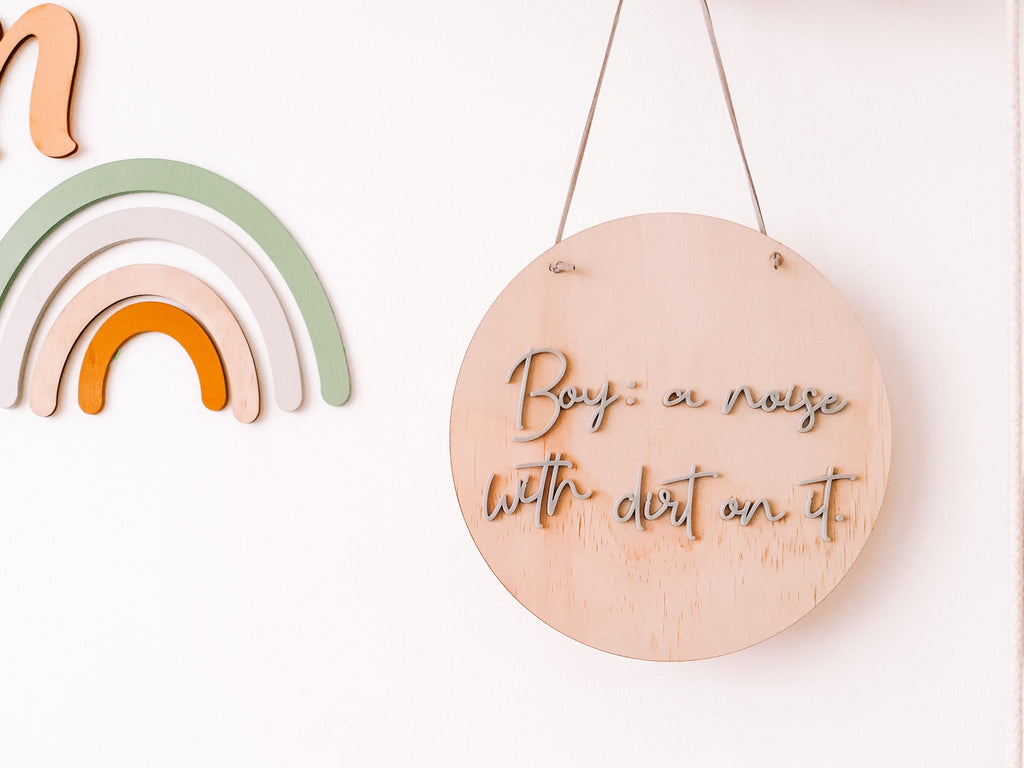 BOY: a noise Wall Mate - Ava & Harper co