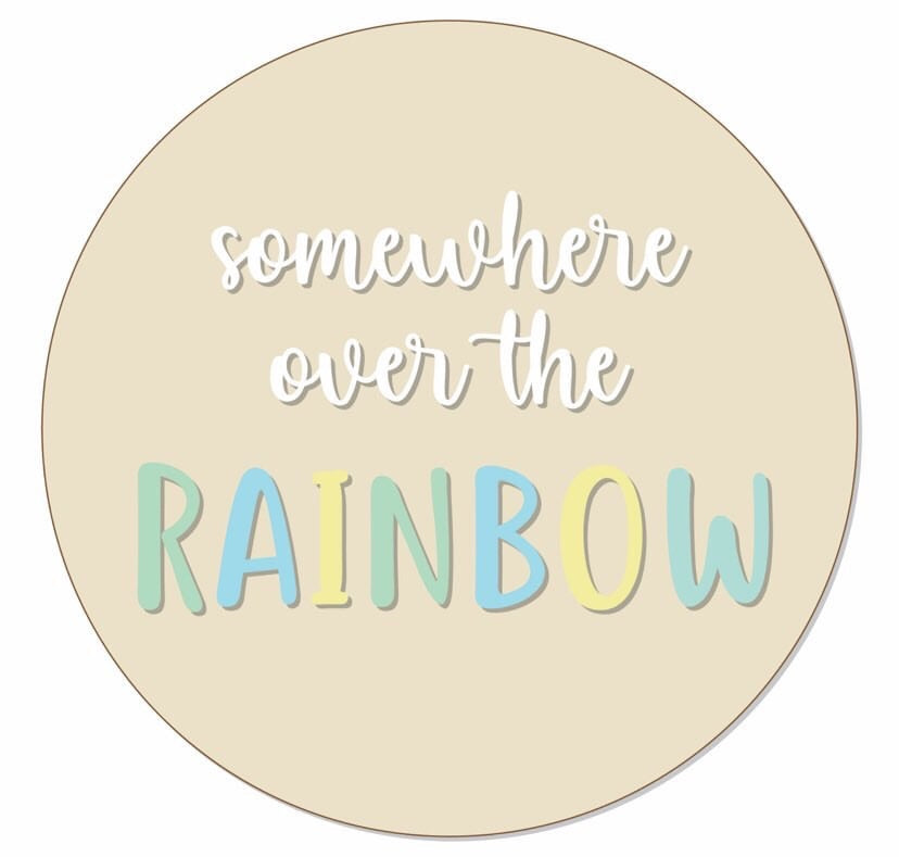 Somewhere over the rainbow Wall Mate - Ava & Harper co