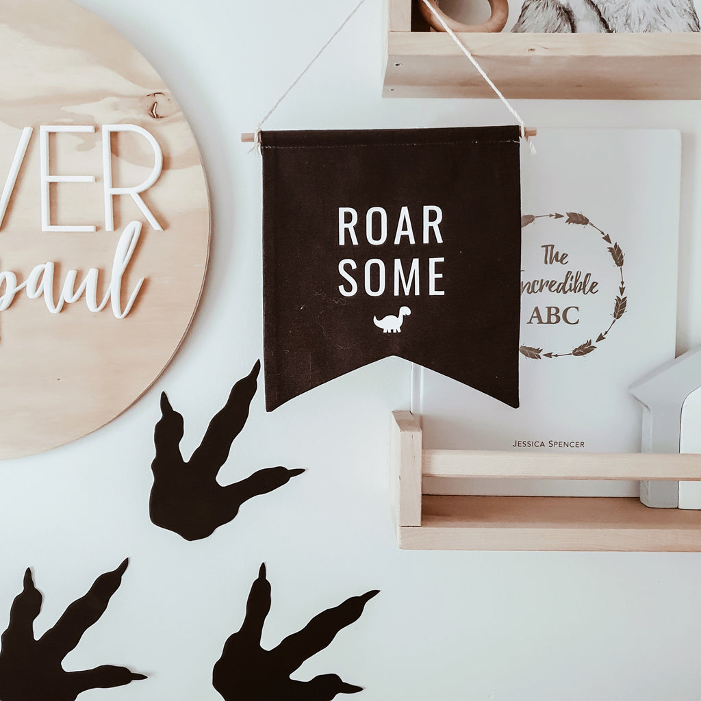 'ROAR SOME' Fabric Banner - Ava & Harper co
