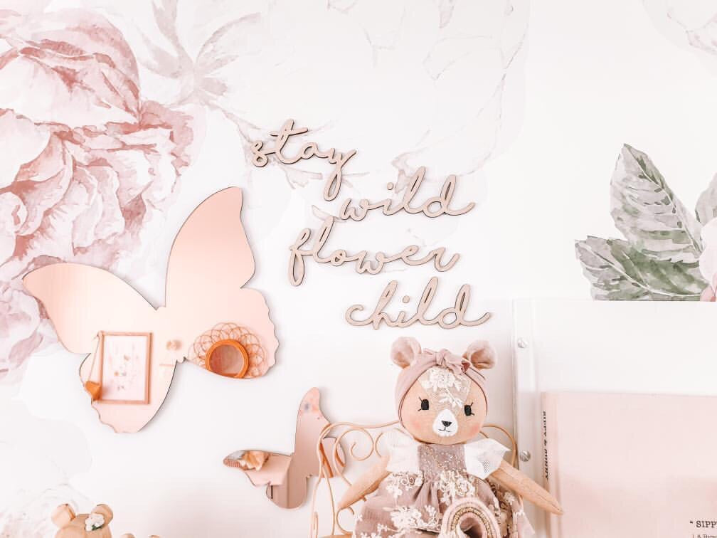 Stay Wild Flower Child Wall Mate - Ava & Harper co