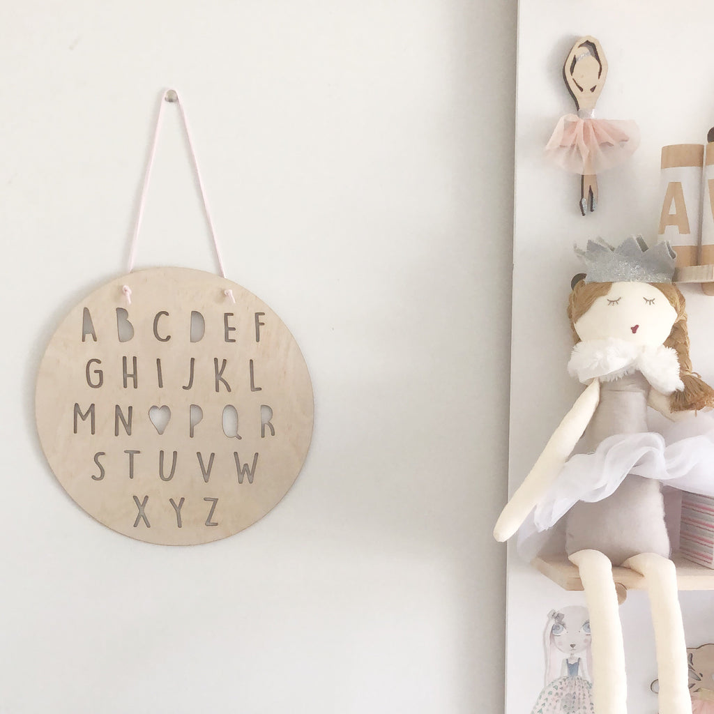 Alphabet Plaque Wall Mate - Ava & Harper co