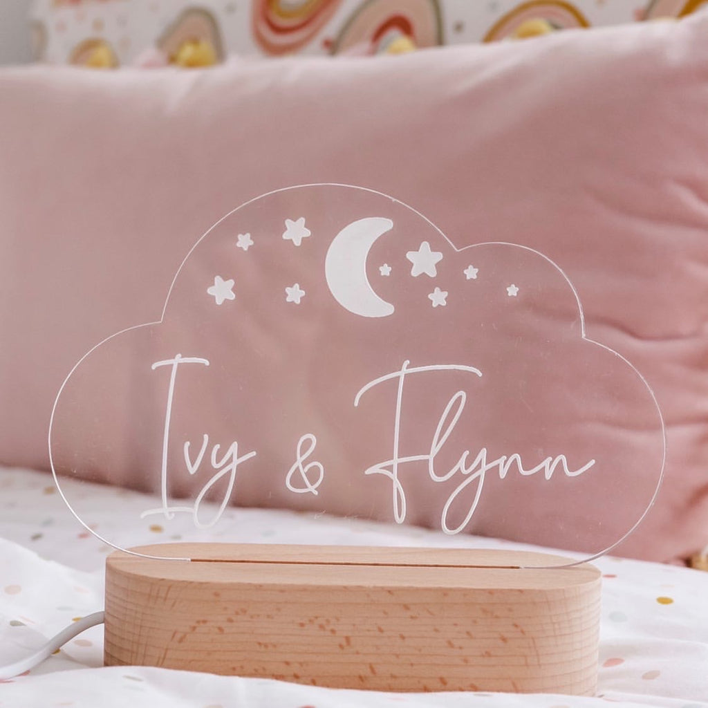 Personalised Night Lights - WARM WHITE - Ava & Harper co