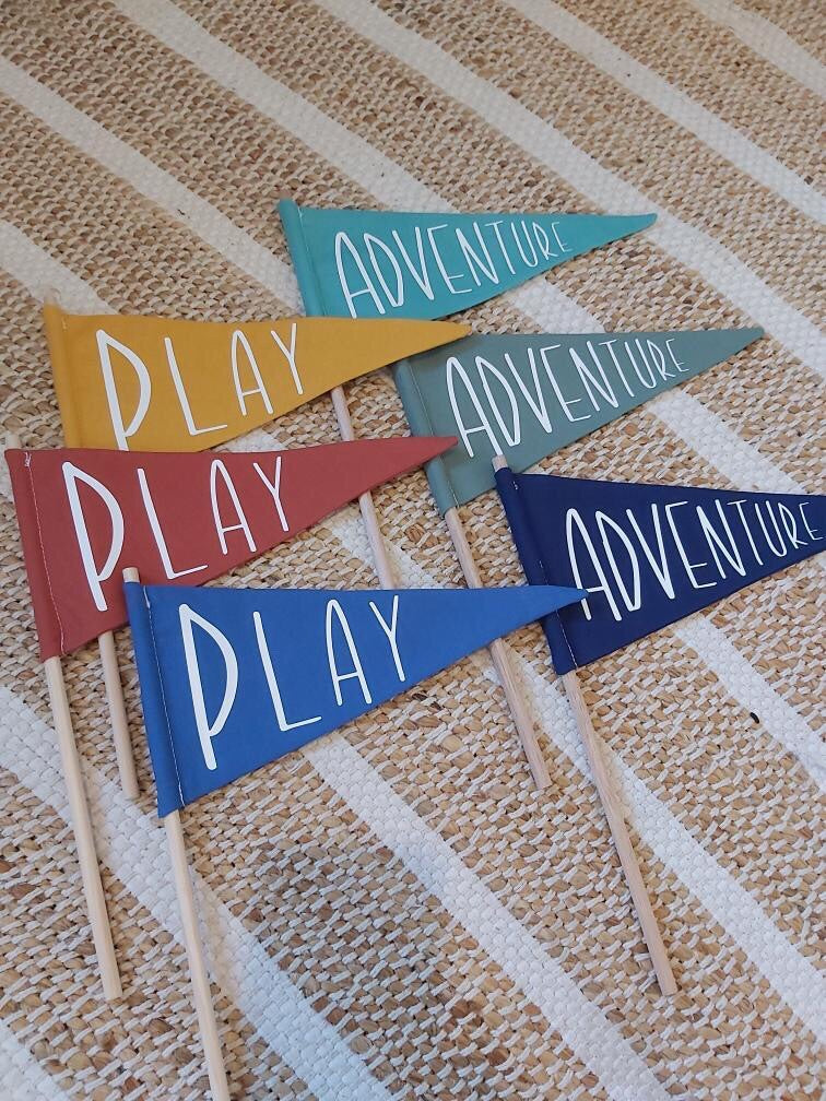 PLAY Fabric Flag - Ava & Harper co