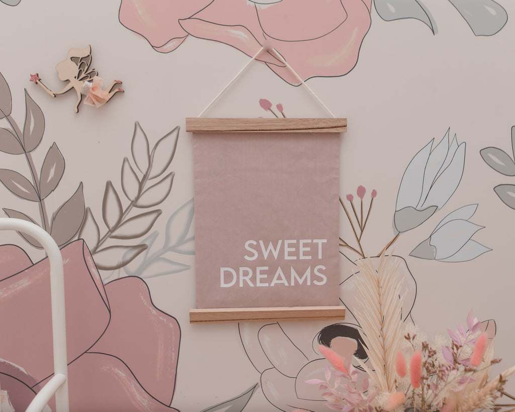 Sweet Dreams Fabric Banner