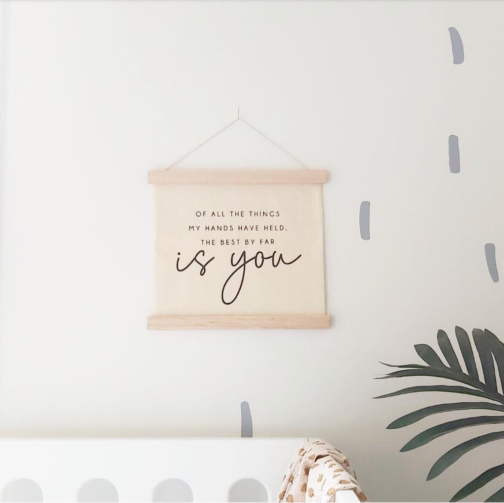 My Hands Wooden Banner - Ava & Harper co