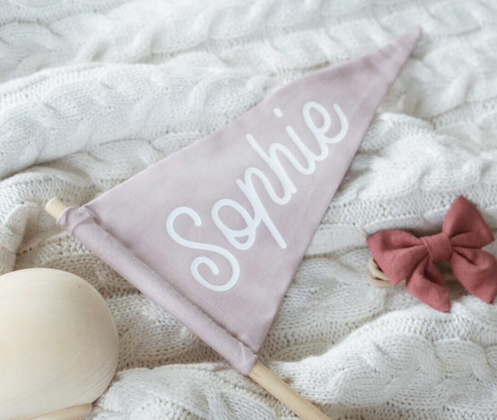 Personalised Fabric Flags - Ava & Harper co