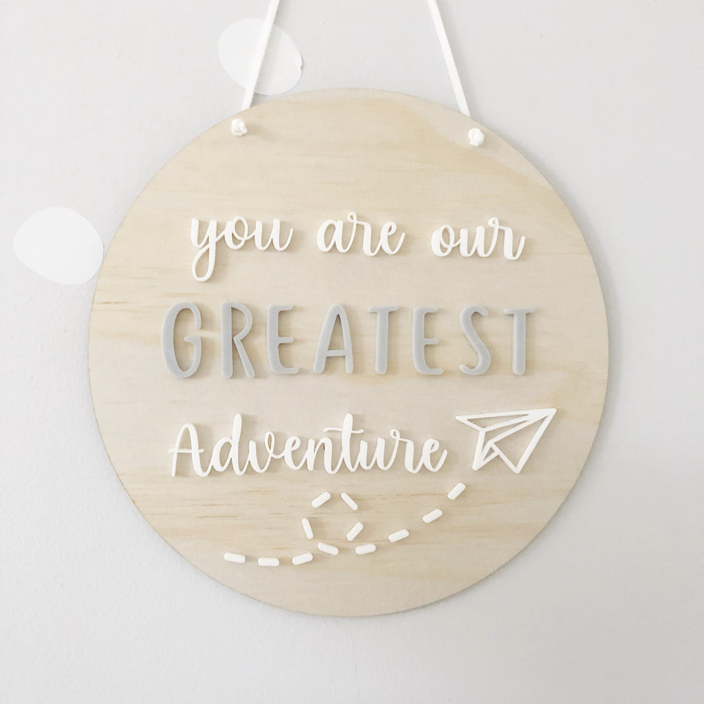 You are our greatest adventure Wall Mate - Ava & Harper co