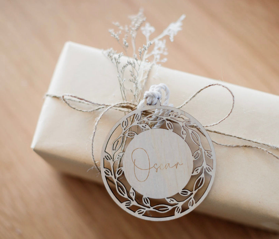 Wooden Wreath Bauble Style 1 - Ava & Harper co