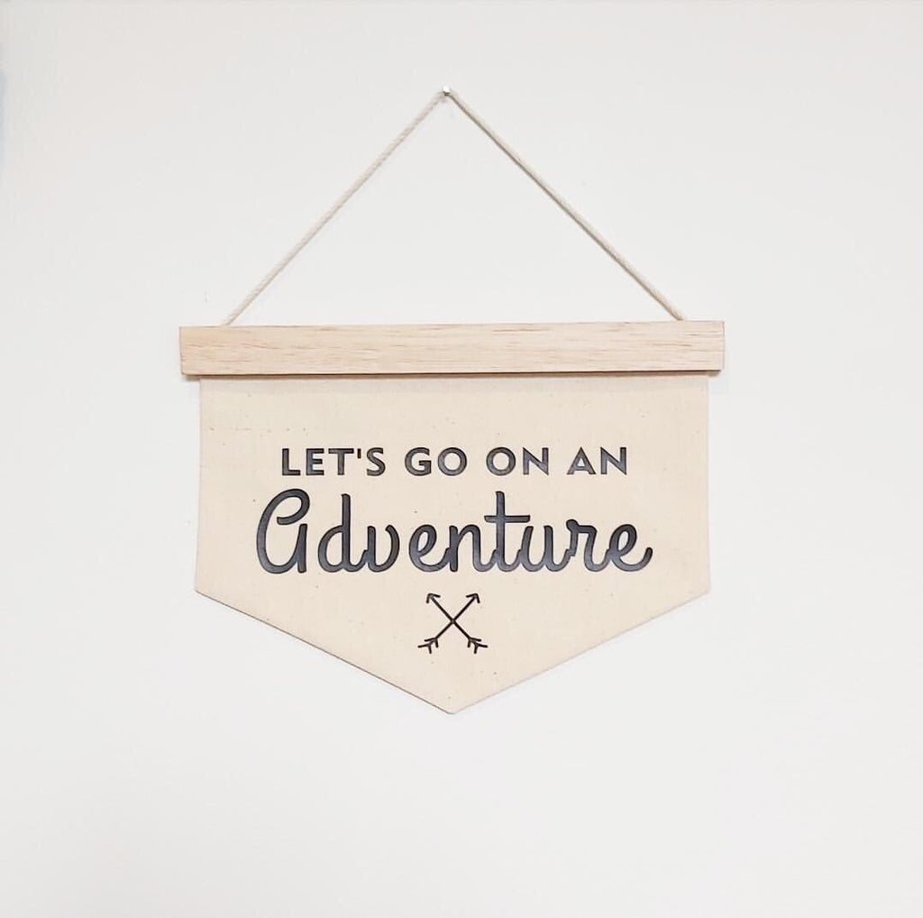 Let's go on an adventure Banner - Ava & Harper co