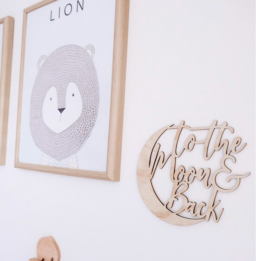 To The Moon & Back Wall Mate - Ava & Harper co