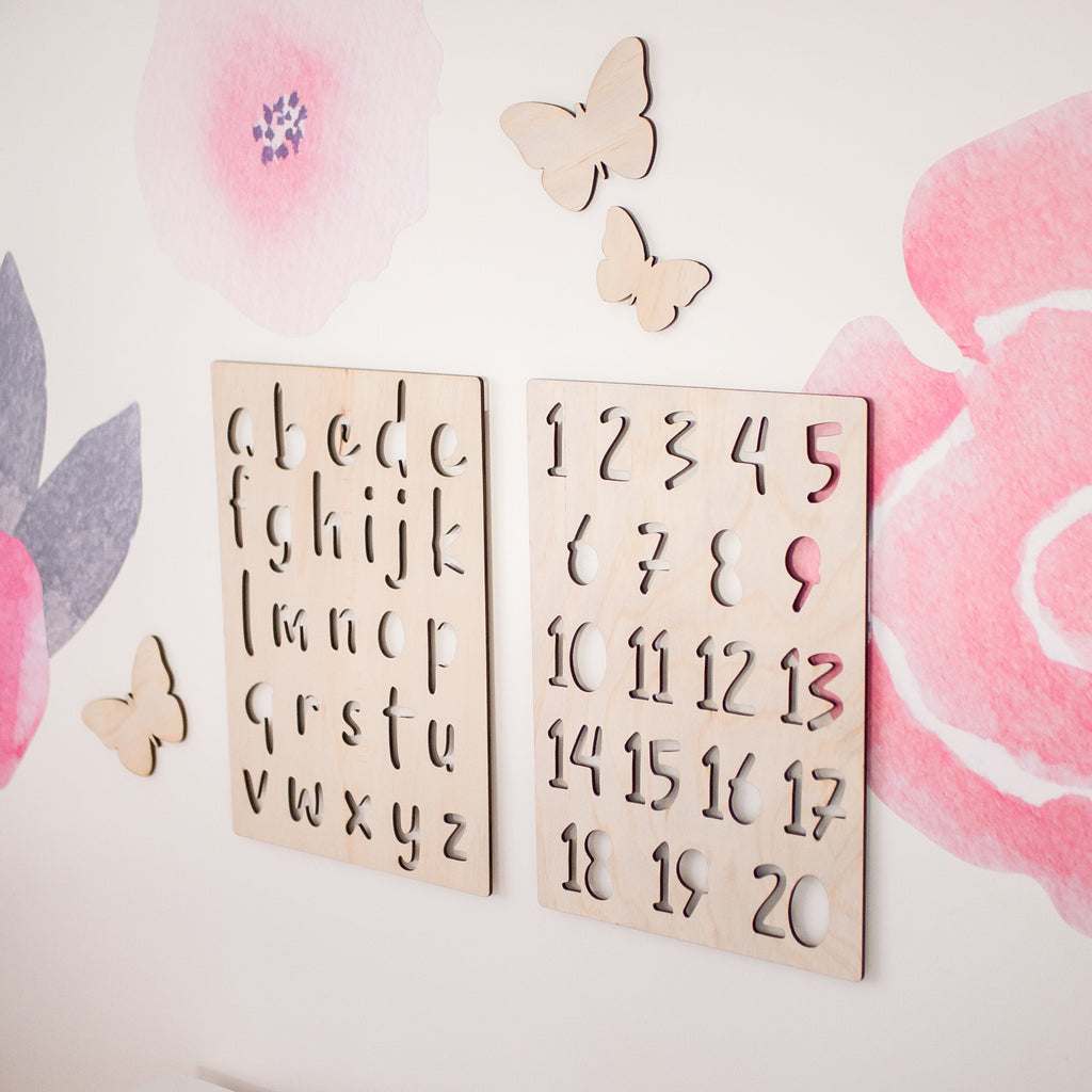 A4 Alphabet & Numbers Set - Ava & Harper co