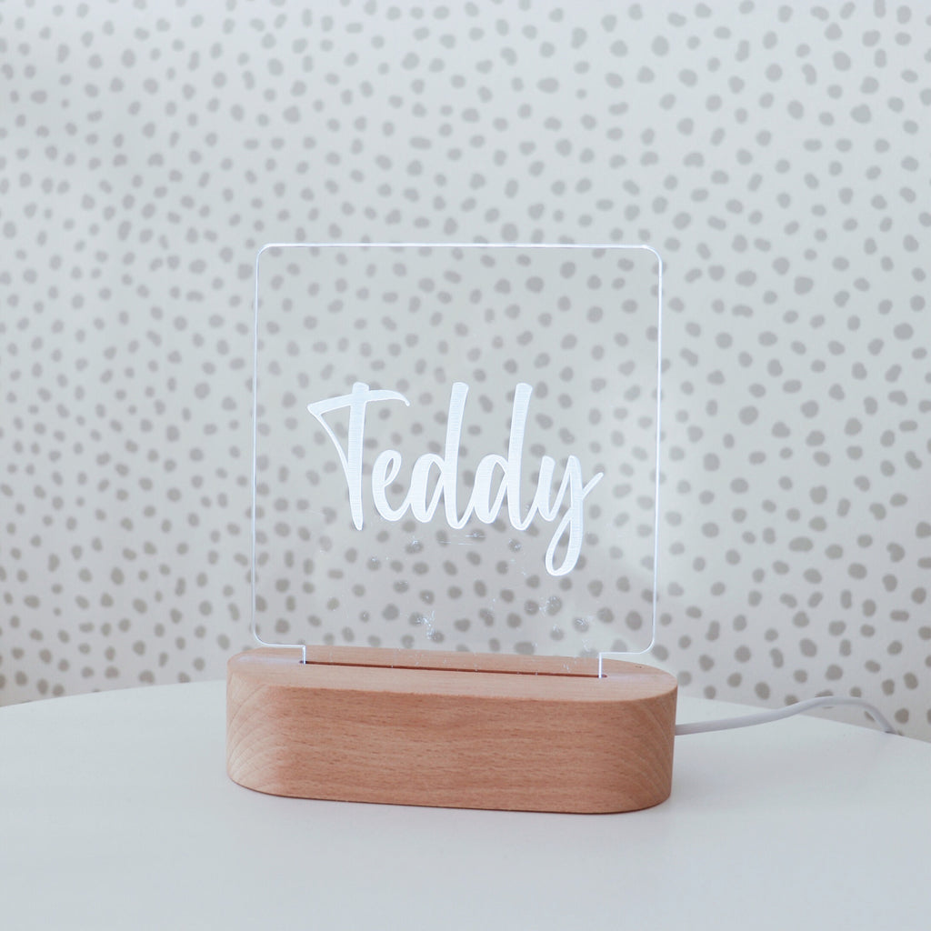 Personalised Night Lights - WARM WHITE