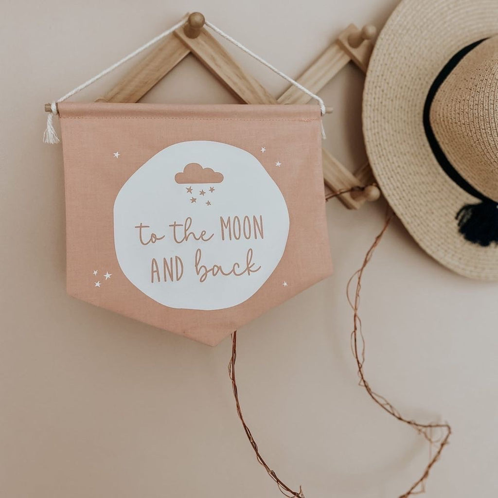 'To the Moon and Back' Fabric Banner - Ava & Harper co