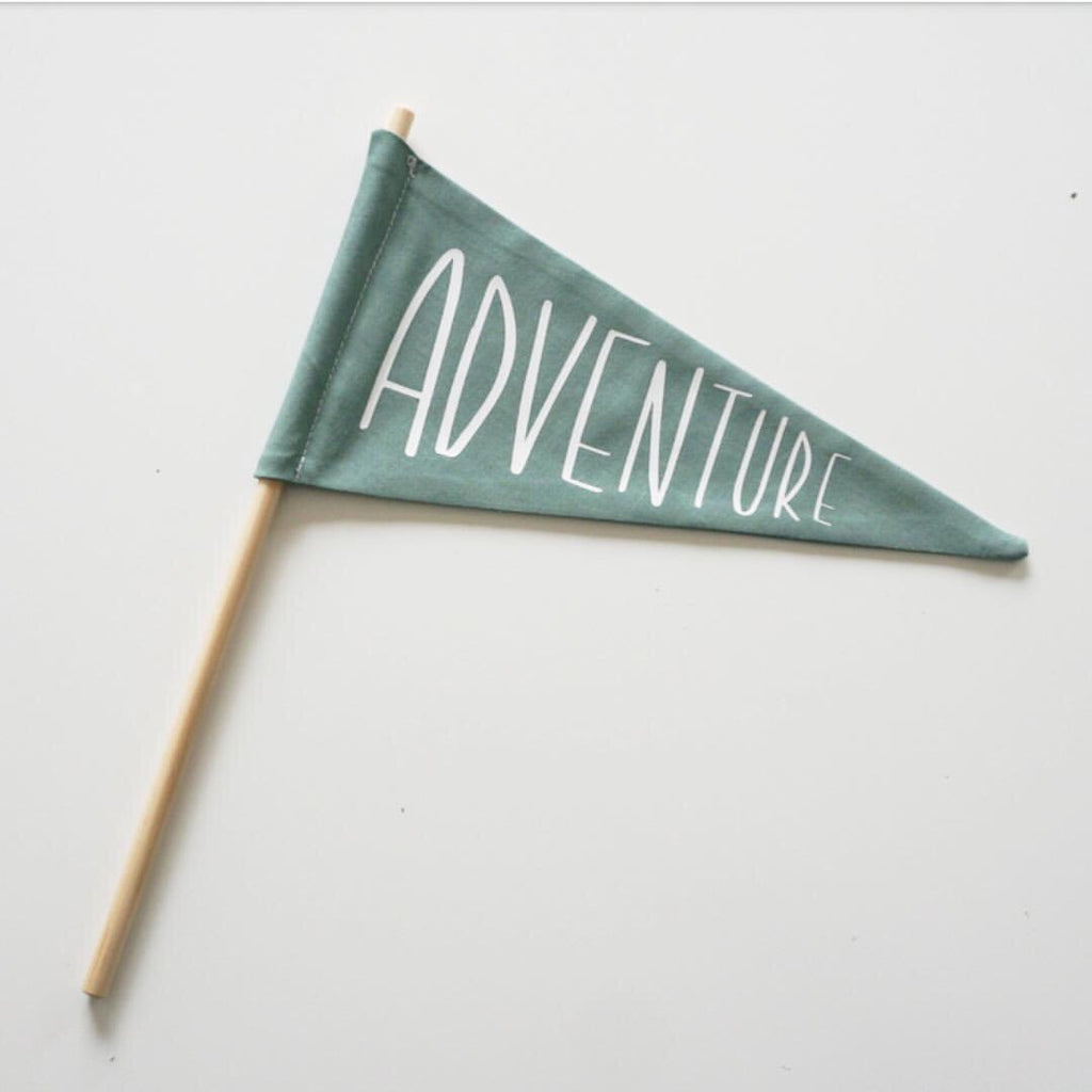 ADVENTURE Fabric Flag - Ava & Harper co
