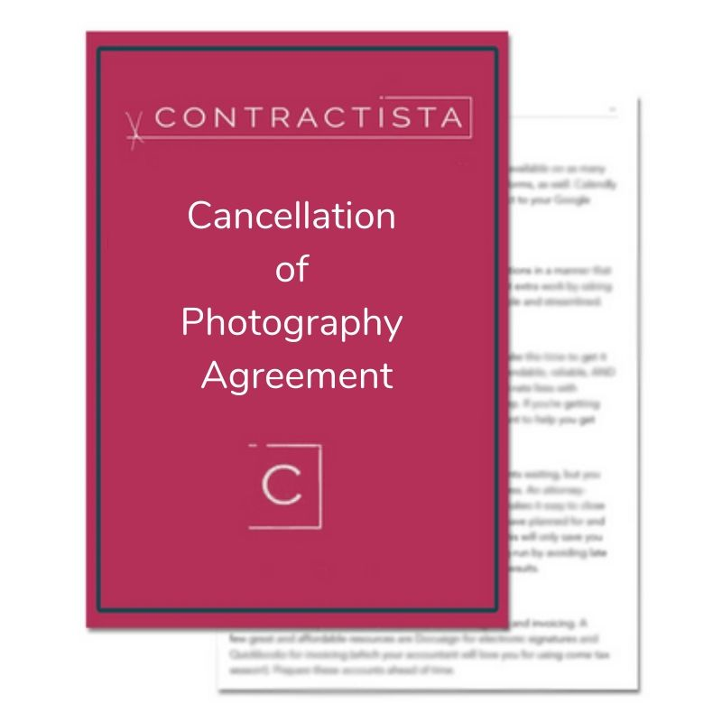 Cancellation of Photography Agreement