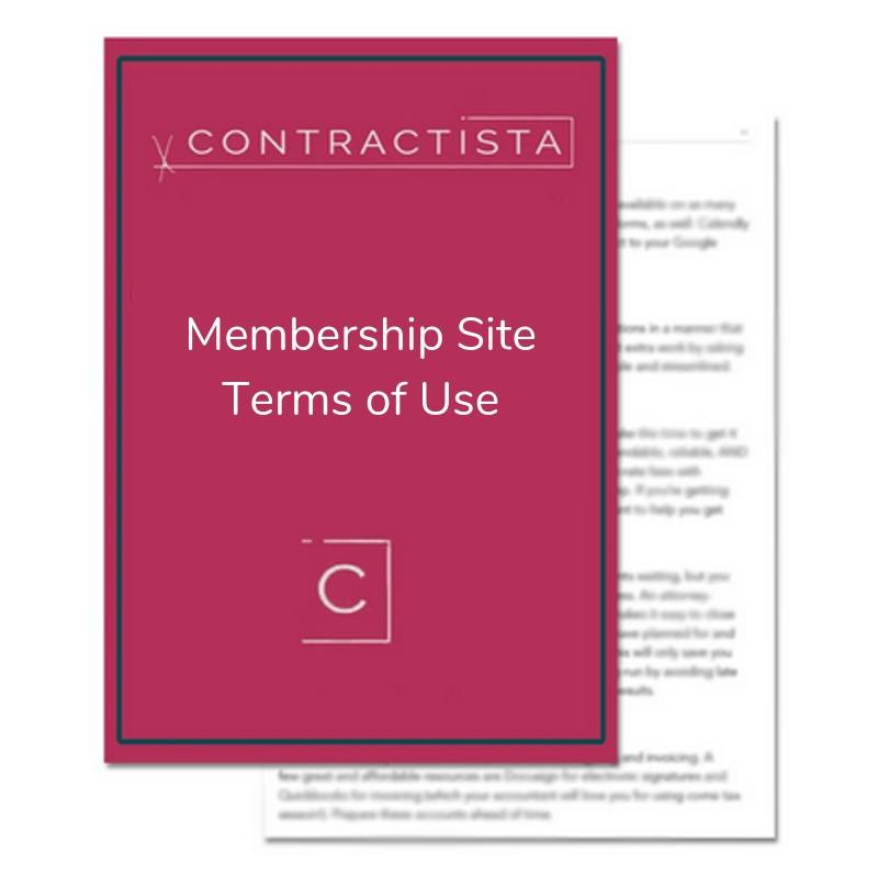Membership Site Terms of Use