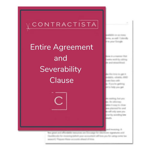 Entire Agreement and Severability Clause