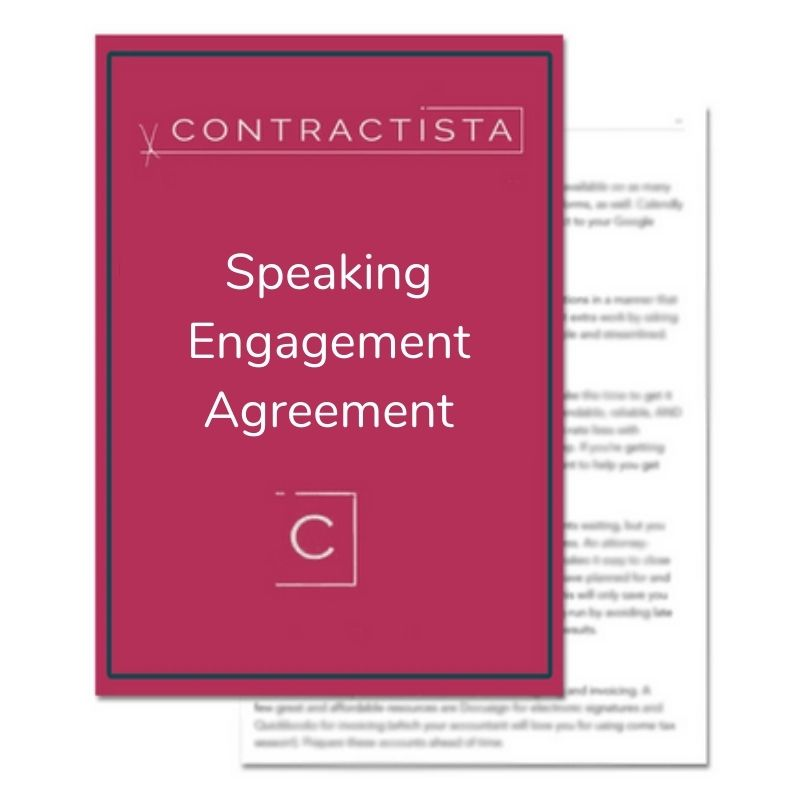 Speaking Engagement Agreement